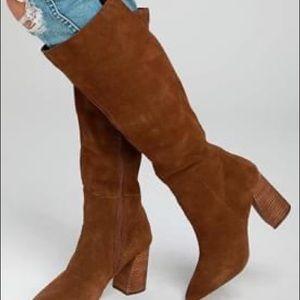 NEW unworn Steve Madden suede knee-high boots